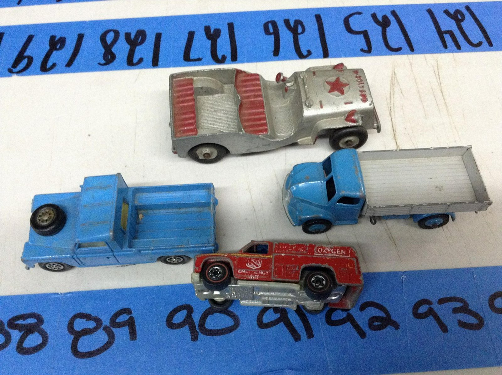 vintage Tootsie, Humley & Red Line Hot Wheels Cars
