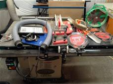 grizzly 10 inch table saw and attachments