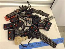 early Lionel train switches and tracks large amount
