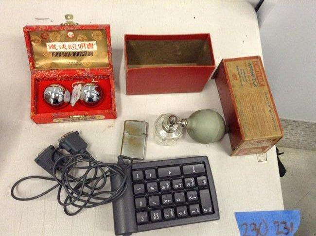 vintage cigarette lighters atomizer , iron ball