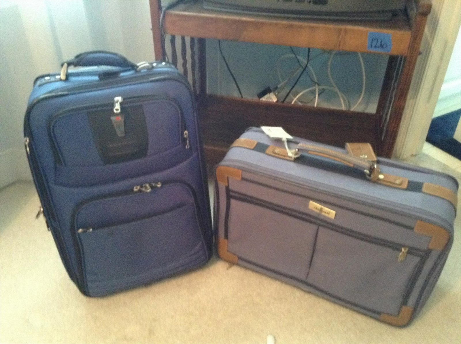 Delsey and Atlantic vintage suitcases