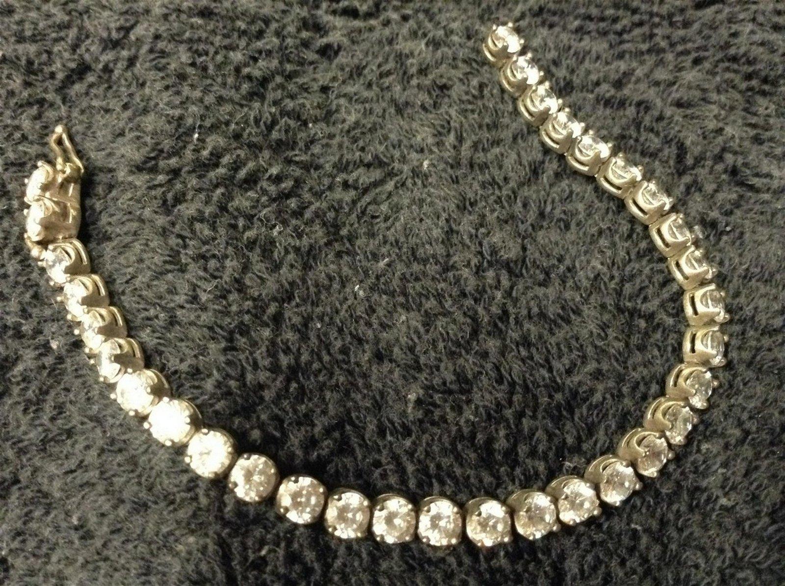 Sterling Silver & rhinestone bracelet