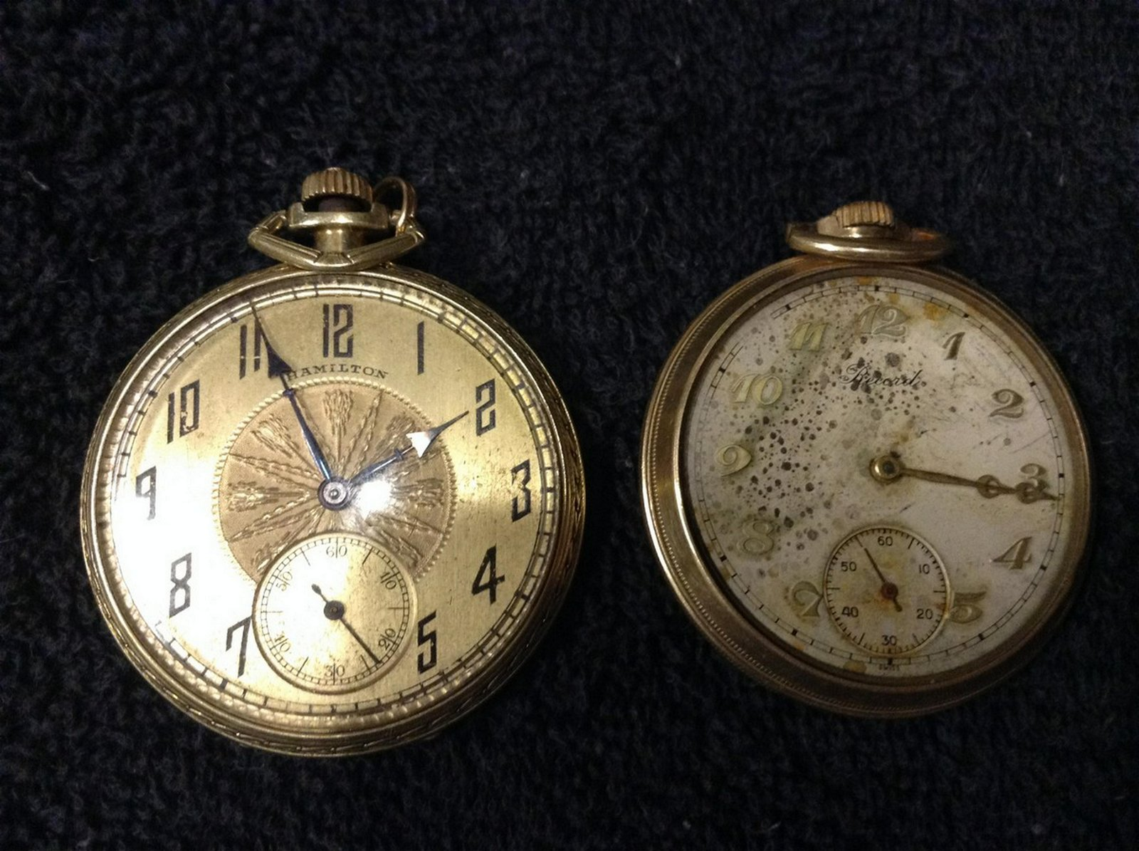 Hamilton pocket watch working other not