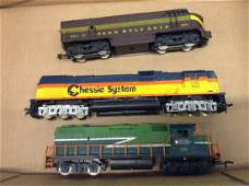 lot of 3 HO train cars