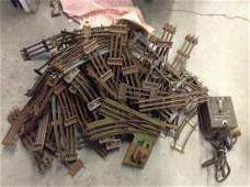 large amount of 3 rail train track and transformer SI