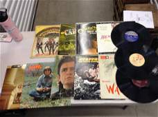 large amount of vintage records