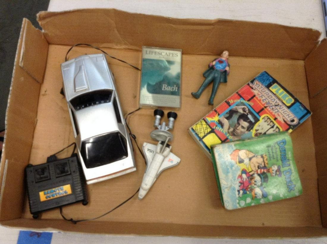 lot of vintage toys, books and other items