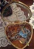 Vintage Heart shaped Jewelry box