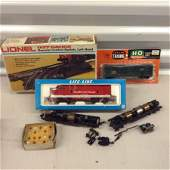 Lionel switch, HO train cars and more