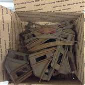 large amount of 1910 vintage train tracks