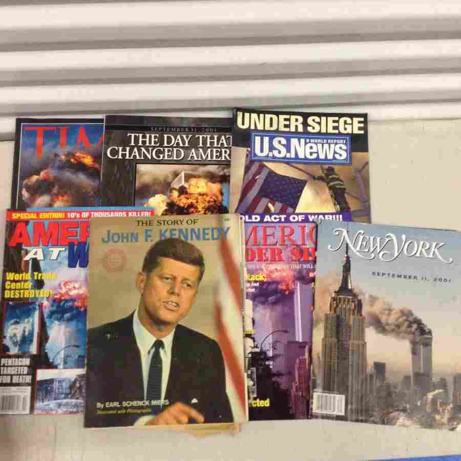 lot of 9/11 magazines
