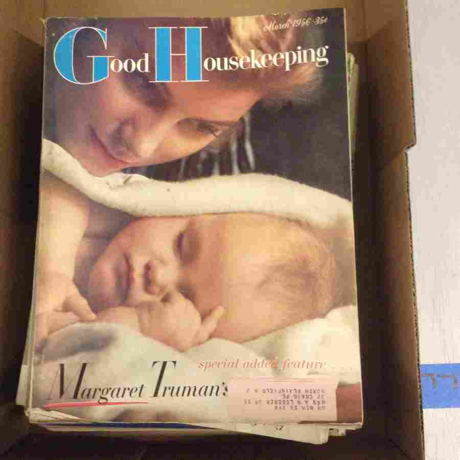 large amount of Good House keeping magazines; 1950s