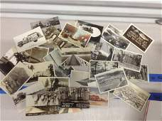 lot of black and white photograph postcards never used