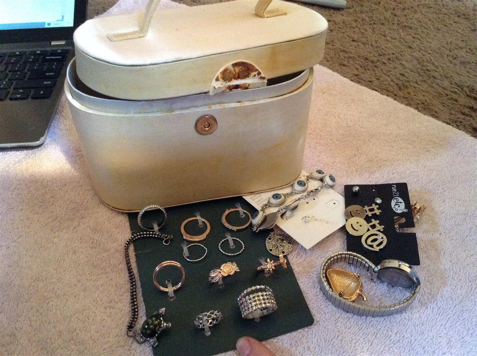 lot of various rings and other jewelry
