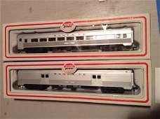 lot of two model power ho train cars
