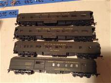 lot of four HO train cars New York Central