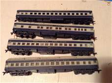 lot of four HO train cars Baltimore and Ohio