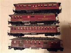 lot of four Pullman HO train Cars