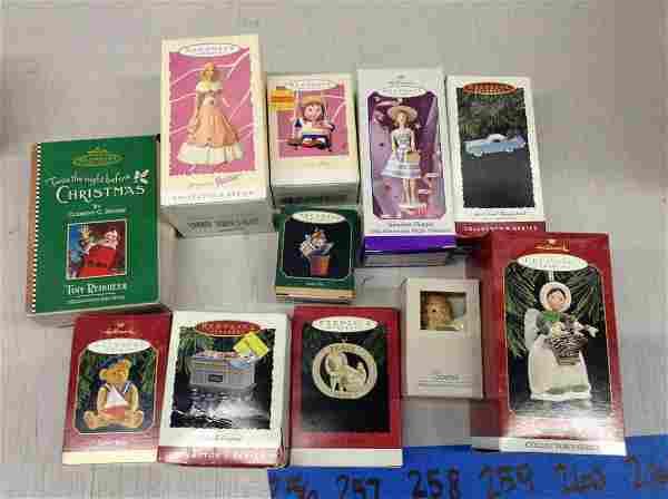 lot of Hallmark Christmas ornaments