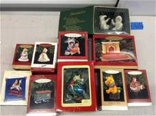lot of Hallmark Christmas ornaments