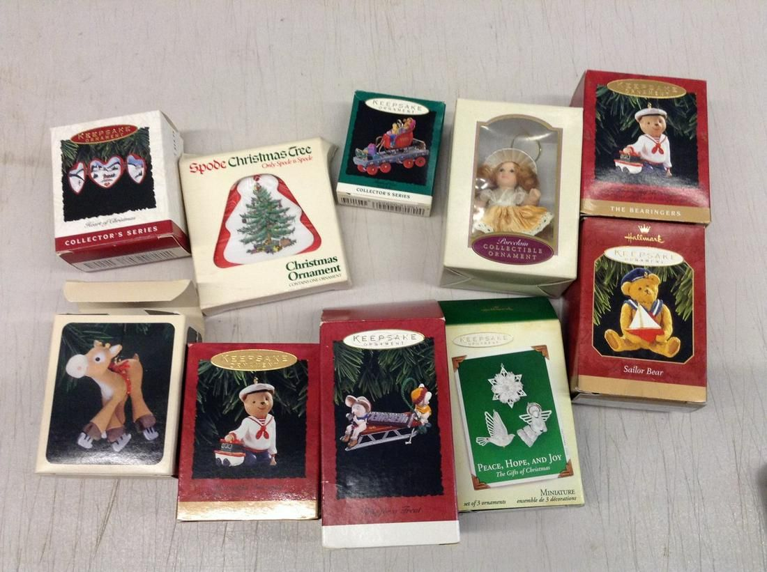 lot of Hallmark Christmas ornaments and others