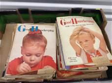 large amount of 1950s Good House Keeping Magazines