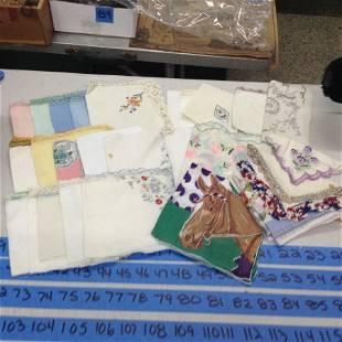 large lot of vintage handkerchiefs