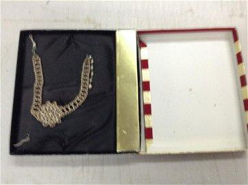 vintage pear choker necklace