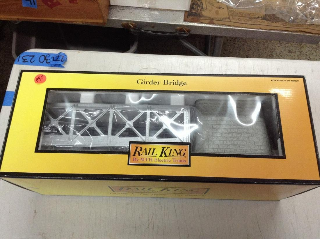 rail king o-scale train girder bridge