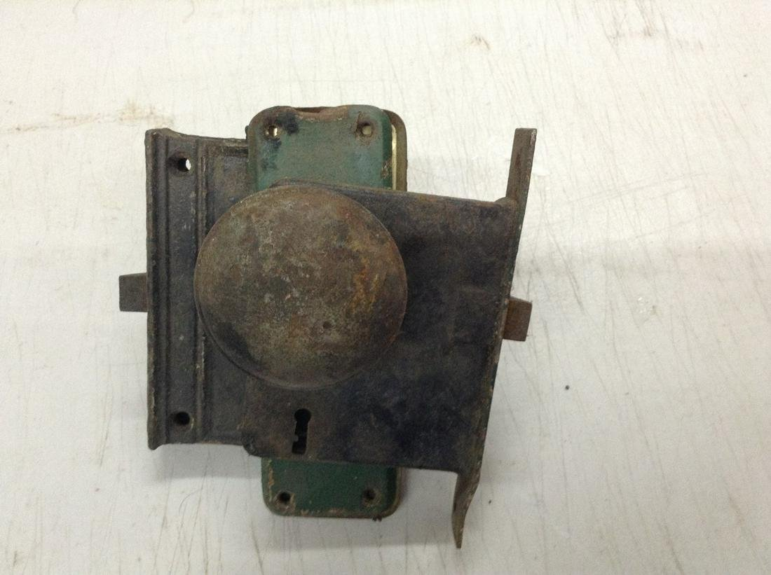 vintage door lock assembly
