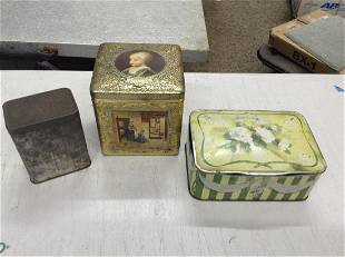 lot of 3 tin early