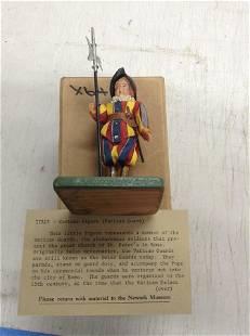Newark museum Vatican guard hand carved wooden