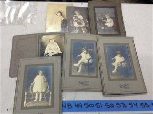 large lot of black and white early phots