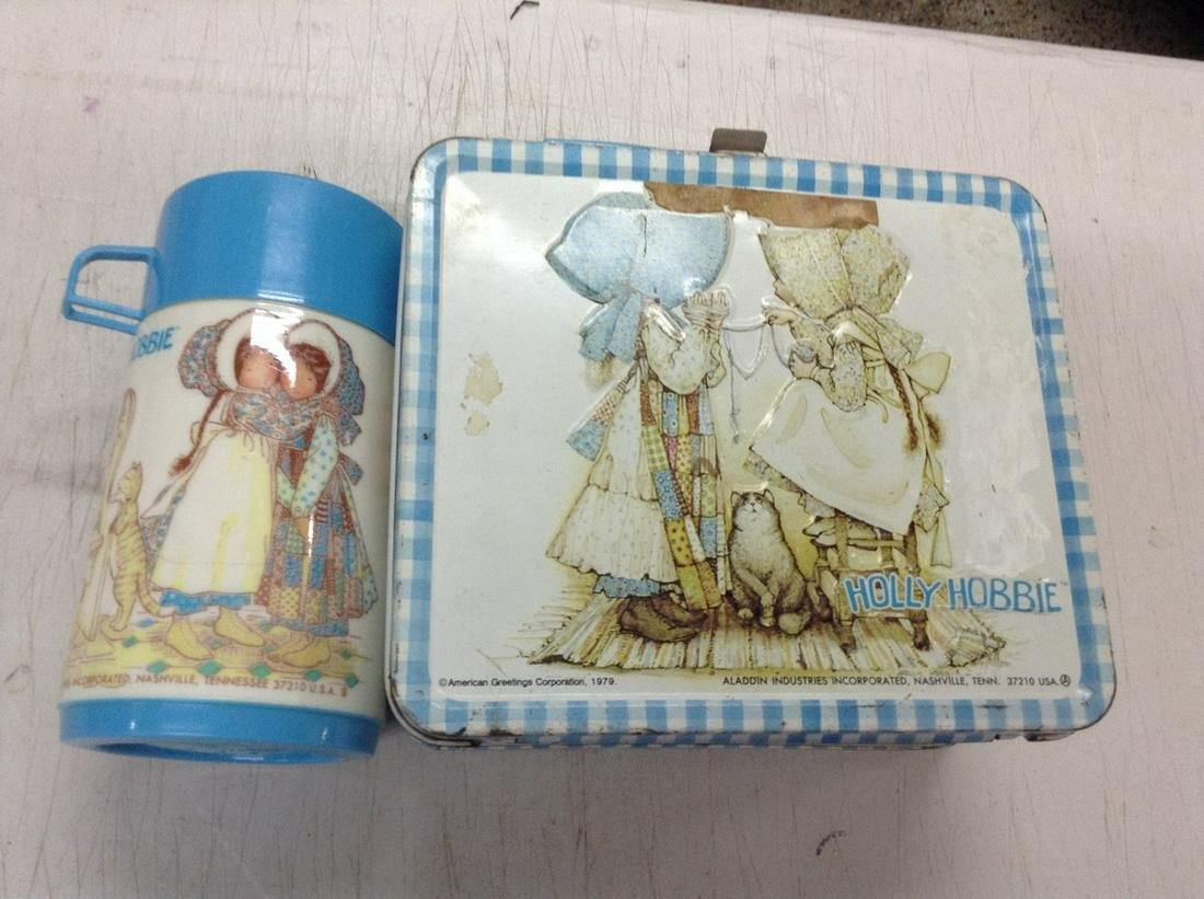holly hobby tin lunch box with thermos