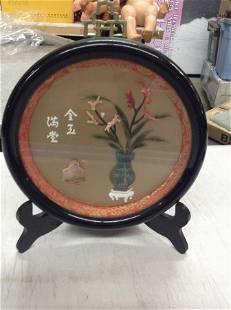 3d bone inlaid oriental themed art work