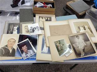 large lot of black and white photos