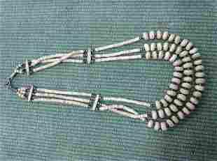 hand carved bone necklace