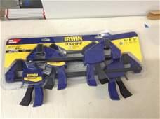 Irwin 6 clamp set-quick grip