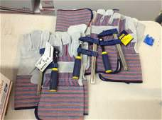 Irwin vase clamps and work gloves new