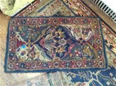oriental style vintage throw rug 36x20