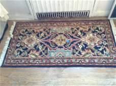 oriental style vintage throw rug Agra palance