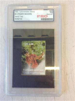 graded tiger woods stamp