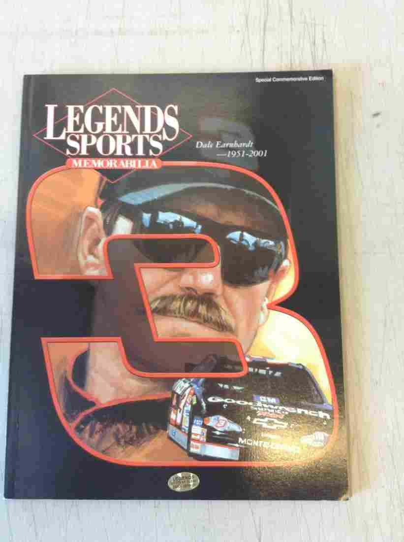legends sports memorabilia book dale Earnhardt