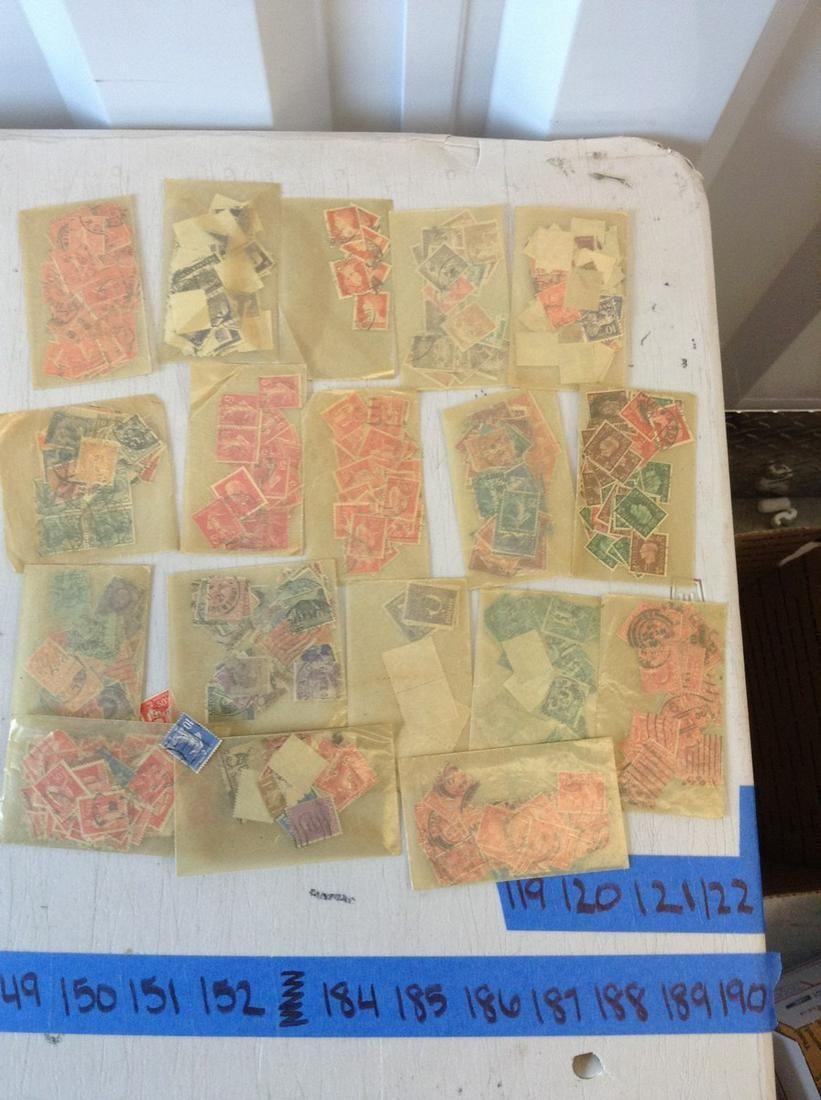 large vintage foreign postage stamps