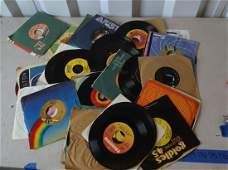 large amount of 45 records