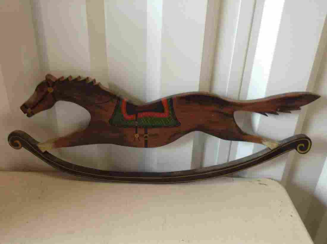 """Wooden Horse wall hanging 30"""" Long"""