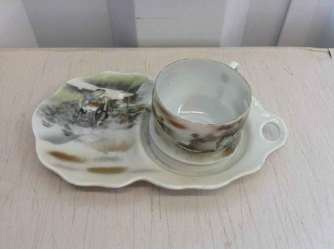 English made tea and biscuit cup and plate