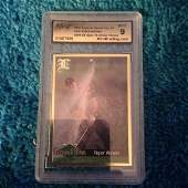 graded 2001 tiger woods 9 mint card