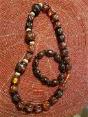 Large Amber necklace and bracelet