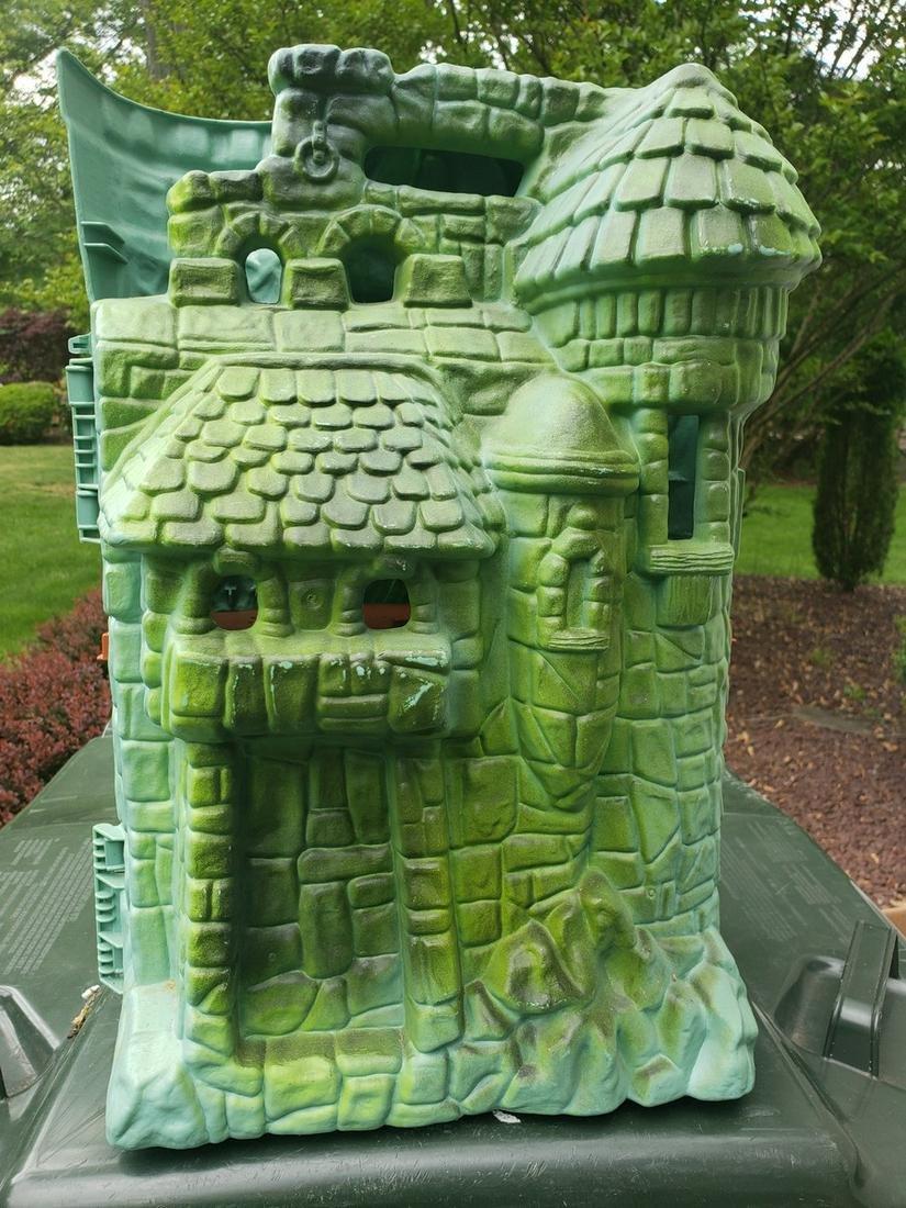 Vintage He-Man green tower castle